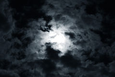 The black sky Stock Images
