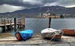 Black sky on San Giulio Royalty Free Stock Image