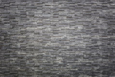 Black slate wall texture and background. Interior or exterior de Stock Photography