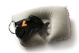 Black sleeping mask Royalty Free Stock Image