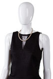 Black sleeveless top and necklace. Stock Image