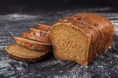 Black sliced bread stock photo