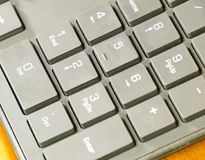 Black slim keyboard computer. A peripheral input device.  stock photography