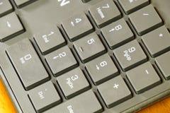Black slim keyboard computer. A peripheral input device.  stock photo