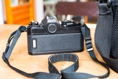 Black SLR camera Royalty Free Stock Photos