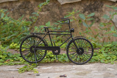 Black small bicycle Stock Photography