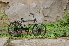 Black small bicycle Stock Photo