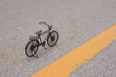 Black small bicycle Stock Images