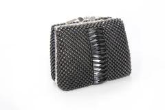Black small female handbag Royalty Free Stock Photos