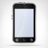 Black smart phone front view empty display Royalty Free Stock Photo