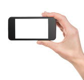 Black Smart Phone In Hand Stock Images