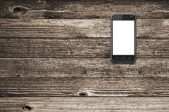 Black smart phone with isolated screen Stock Photography