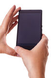 Black Smart Phone over white Royalty Free Stock Photography