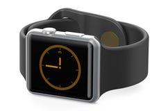 Black smart watch closeup Stock Photo