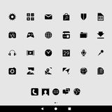 Black Smartphone Apps and Icons Royalty Free Stock Image