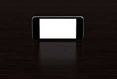 Black smartphone with blank screen. High detailed. royalty free illustration
