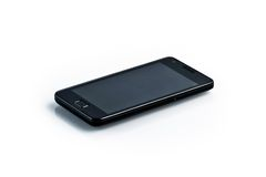 Black smartphone - galaxy style gadget Stock Photos