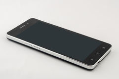 Black smartphone with screen off Stock Image