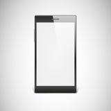 Black smartphone  on white background. Stock Photography