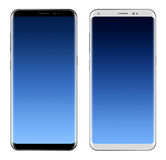 Black Smartphone & White Smartphone with big screen Royalty Free Stock Photography
