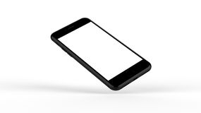 Black smartphones with blank screen. Royalty Free Stock Photography