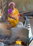 Black smith in a market szene in India Royalty Free Stock Photos