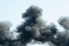 Black smoke Stock Photography