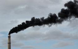 Black smoke. Royalty Free Stock Photo