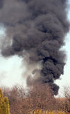 Black smoke. Forest fire and black smoke Stock Image