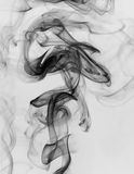 Black smoke isolated on white background Royalty Free Stock Images