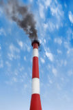 Black smoke pollutes our environment Stock Images