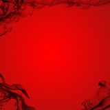 Black Smoke Red Background Stock Images