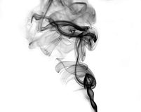 Black smoke on white. Abstract smoke shape background. black smoke on white background Royalty Free Stock Photo