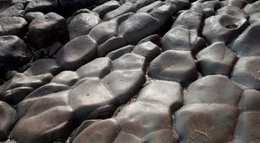 Black smooth stone Rocks texture Stock Photography