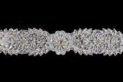 black snör åt över bröllop royaltyfria foton