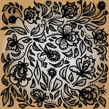 black snör åt stock illustrationer