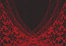 black snör åt röd rengöringsduk Royaltyfria Bilder