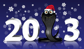 Black Snake year Royalty Free Stock Photos