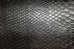 black snakeskin reptile leather pattern texture background royalty free stock photos