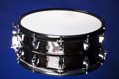 Black snare Drum Isolated On Blue Stock Photos