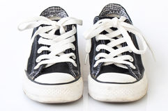Black sneakers Royalty Free Stock Photos