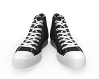Black Sneakers Isolated Royalty Free Stock Photos