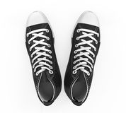 Black Sneakers Isolated Stock Image