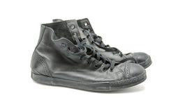 Black sneakers Royalty Free Stock Photo