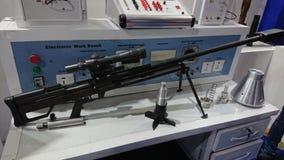 Black sniper seven kilometer range royalty free stock image