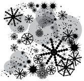 Black snowflakes Stock Image