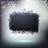Black snowing cloud banner Stock Image