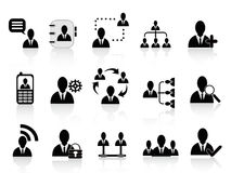 Black social communication icons Royalty Free Stock Images