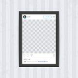 Black social network photo frame. Stock Images