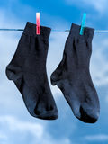Black socks Stock Photography